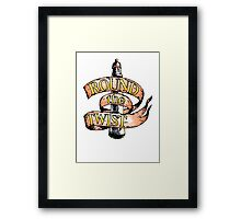 Round The Twist Framed Print
