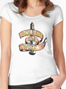 Round The Twist Women's Fitted Scoop T-Shirt