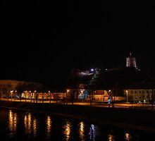 Vilnius at Night by adelinadesi