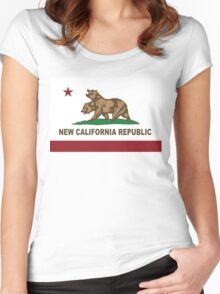 New California Republic Flag Original  Women's Fitted Scoop T-Shirt