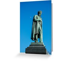 Alexander Pushkin Greeting Card
