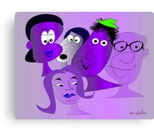 The new Purple Gang Canvas Print