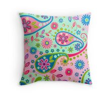 Psychedelic Background Throw Pillow