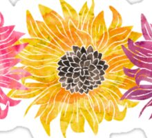 Triple Sunflower  Sticker