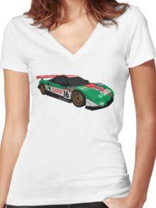 Castrol Mugen NSX Women's Fitted V-Neck T-Shirt