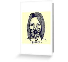 Gloom Girl Greeting Card