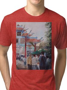 L.A.'s Chinatown Scene Tri-blend T-Shirt