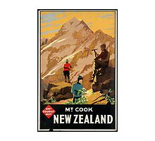 New Zealand Vintage Poster by AmazingMart