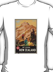New Zealand Vintage Poster T-Shirt