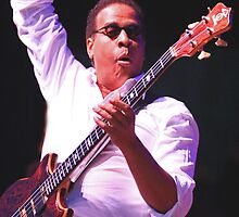 Stanley Clarke Bass Master by InTheMomentArt