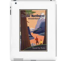 Pacific Northwest Vintage Art iPad Case/Skin