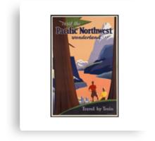 Pacific Northwest Vintage Art Canvas Print