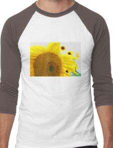Sunflowers in the Sun Men's Baseball ¾ T-Shirt