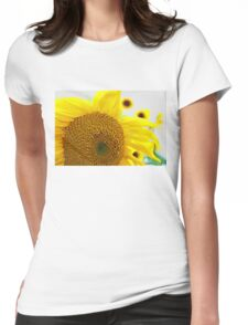 Sunflowers in the Sun Womens Fitted T-Shirt