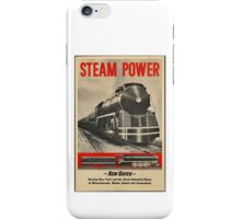 Steam Power Train Vintage Art iPhone Case/Skin