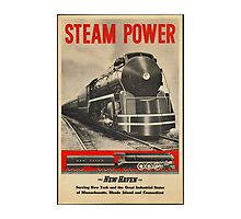 Steam Power Train Vintage Art by AmazingMart