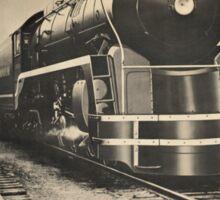 Steam Power Train Vintage Art Sticker