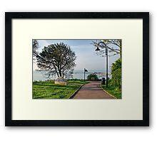 Langmoor-Lister Gardens At Lyme Regis Framed Print