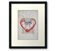 be my dovahkiin Framed Print