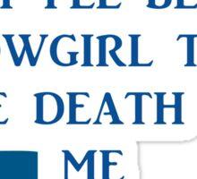DIE HARD MARYLAND COWGIRL  Sticker