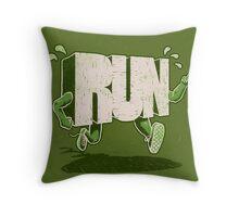 Run! Throw Pillow