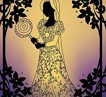 Silhouette Rapunzel by Redhead-K