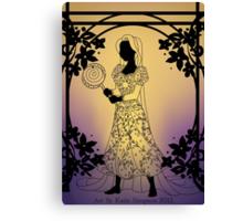 Silhouette Rapunzel Canvas Print
