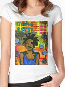 Make ART Women's Fitted Scoop T-Shirt