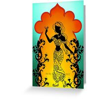 Silhouette Jasmine Greeting Card