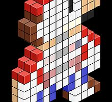 Sawed Off Mario (Cross Section) by pixelfart