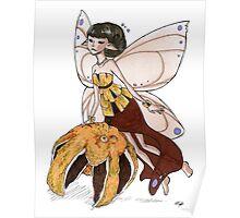 Orange Fairy Poster