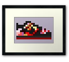 8-bit Kicks (Pushead) Framed Print