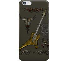 Black Metal Guitar Digital Art iPhone Case/Skin