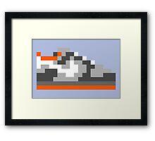 8-bit Kicks (Pigeon) Framed Print