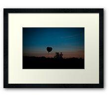 Heart in the Sky Framed Print