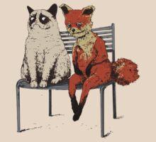 Grumpy Cat and Fox by da-da-dashik