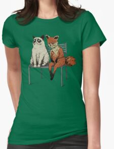 Grumpy Cat and Fox Womens Fitted T-Shirt