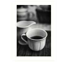 Still life with tea Art Print