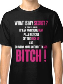 WHAT IS MY SECRET ? WHITE&PINK Classic T-Shirt