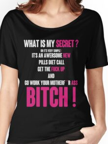 WHAT IS MY SECRET ? WHITE&PINK Women's Relaxed Fit T-Shirt