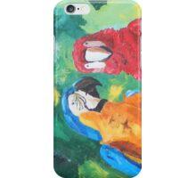 Parrots Love Birds Kiss - Horizontal - iPhone iPhone Case/Skin