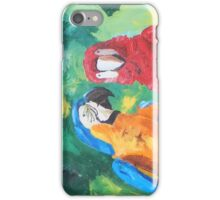 Parrots Love Birds Kiss - Horizontal - iPhone iPhone Case/Skin