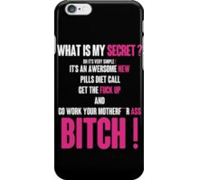 WHAT IS MY SECRET ? WHITE&PINK iPhone Case/Skin