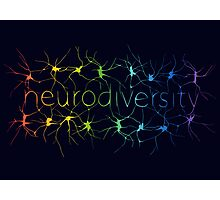 Neuron Diversity - Classic Rainbow Photographic Print