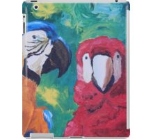 Parrots Love Birds Kiss Closeup - Vertical - iPad iPad Case/Skin