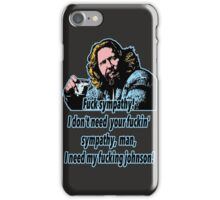 Big Lebowski Philosophy 17 iPhone Case/Skin