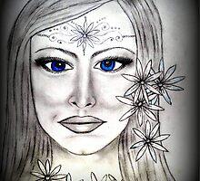 Blue Eyed Daisy by Moonpebble