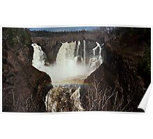 Rainbow Over Pigeon River Falls Poster
