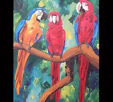 Parrot Trio: The Three Amigos - Samsung by PhoneCase