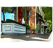 Sidewalk In Saint Helena Poster